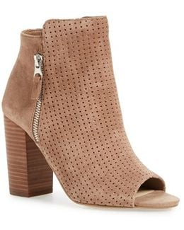 Keris Suede Open-Toe Boots