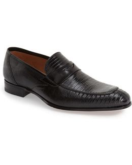'lipari' Lizard Leather Penny Loafer