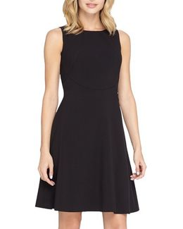 Seamed Knit Fit & Flare Dress