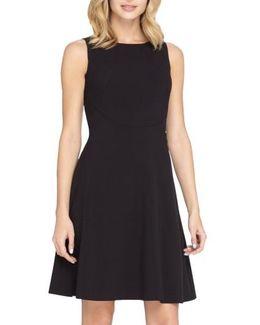 Seamed Knit Fit & Flare Dress