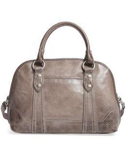'melissa' Domed Leather Satchel