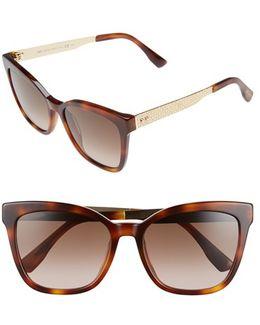 55mm Retro Sunglasses - Havana