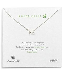 'kappa Delta' Pendant Necklace