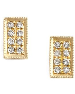 'katie' Diamond Stud Earrings