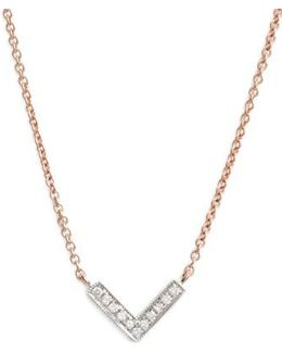 'sylvie Rose' Diamond V Pendant Necklace