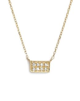 'katie' Diamond Bar Pendant Necklace