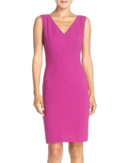 Seamed Woven Sheath Dress