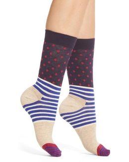 Stripes & Dots Crew Socks