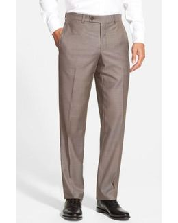 Jefferson Flat Front Wool Trousers