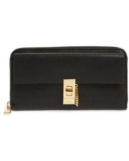 'drew' Calfskin Leather Zip Around Wallet