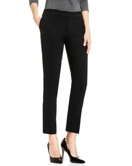 Textured Skinny Ankle Pants