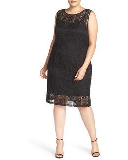 Crochet Lace Sheath Dress