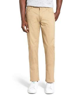 Slim Fit Stretch Cotton Pants