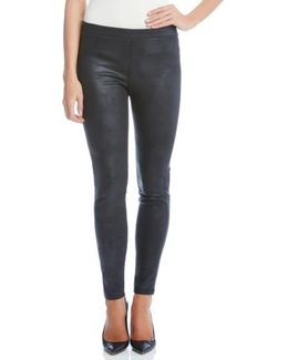Stretch Faux Leather Skinny Pants