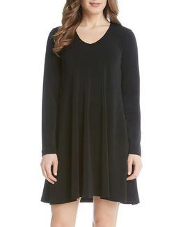 'taylor' Long Sleeve A-line Dress