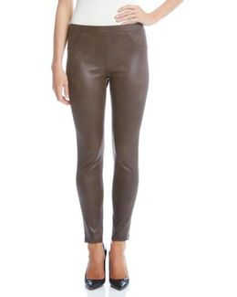 Karen Karen Stretch Faux Leather Skinny Pants