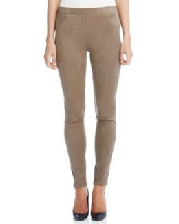 Faux Suede Knit Skinny Pants