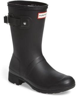 Original Tour Short Packable Rain Boot, Black