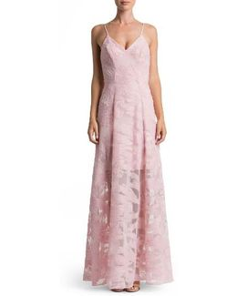 'florence' Woven Fit & Flare Gown