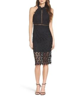 'gemma' Halter Lace Sheath Dress