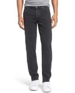'henley' Slim Fit Jeans (smoke)