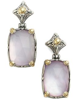 'iliada' Rectangle Double Drop Earrings