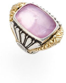 'iliada' Large Doublet Ring