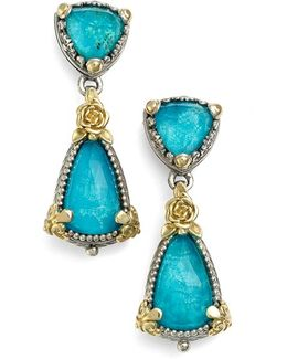 'iliada' Double Drop Earrings