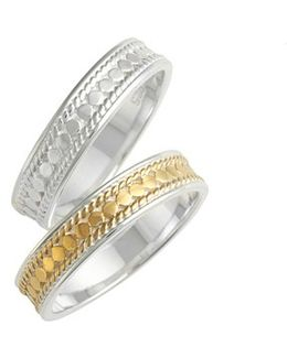 Two-tone Stacking Rings (set Of 2)