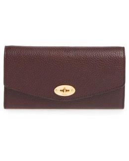 'postman's Lock' Leather Wallet - Burgundy