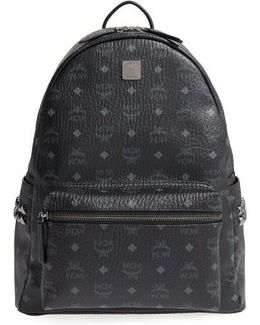 Medium Stark Coated Canvas Backpack