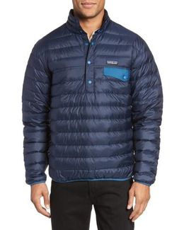 Water Repellent 600-fill-power Down Pullover Jacket
