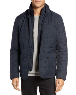 Jasper Trim Fit Quilted Jacket With Removable Bib
