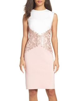 Tadashi Sequin Knit Sheath Dress