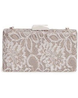 Chantilly Lace Box Clutch - Metallic