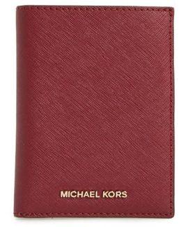 'jet Set' Leather Passport Wallet