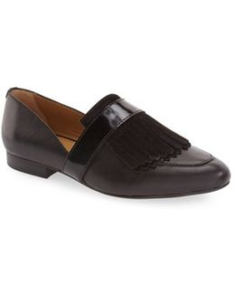 Harlow Leather Fringe Loafers