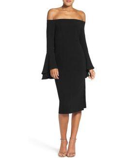 'solange' Off The Shoulder Midi Dress