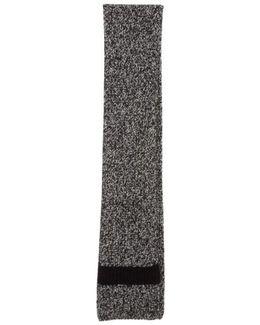 Wide Melange Knit Scarf