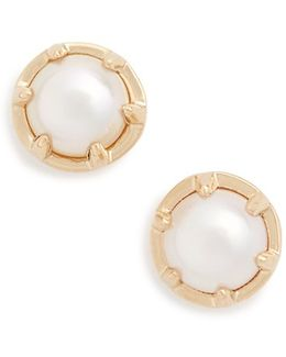 'celestine' Pearl Stud Earrings