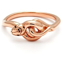 'small Serpent' Rose Gold Ring