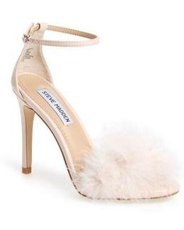 'scarlett' Marabou Evening Sandal