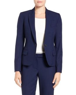 One-Button Suit Jacket