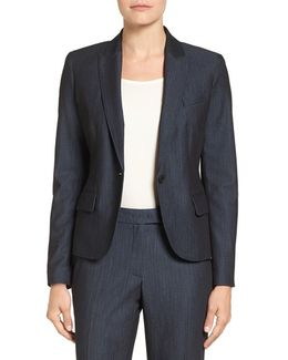 Twill One-button Jacket