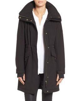 Soft Shell Hooded Raincoat