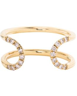 'pave Loop' Diamond Open Ring