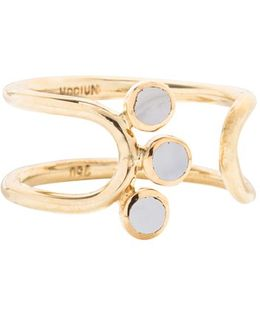 'triplet' Moonstone Open Ring
