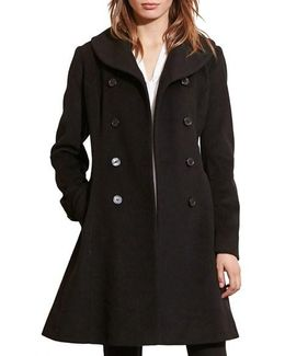 Fit & Flare Military Coat