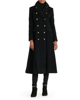 Double Breasted Military Maxi Coat