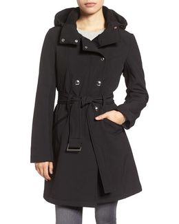 Double Breasted Soft Shell Trench Coat